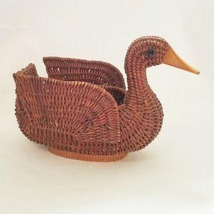 Small Wicker Duck Basket